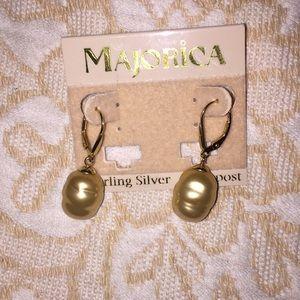 Majorica baroque pearl earrings